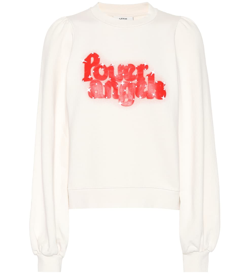 Power Angels Print Sweatshirt in White