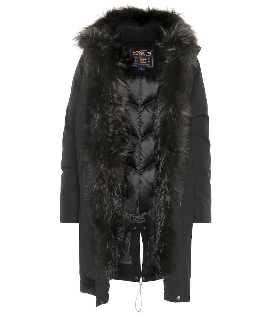 Fur Trimmed Down Jacket by Woolrich