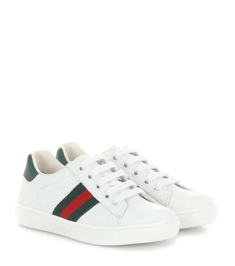 Ace Leather Sneakers - Gucci Kids