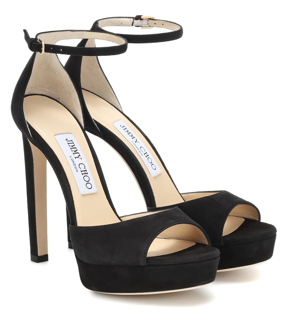c24f28a1ba3 Jimmy Choo - Pattie 130 suede plateau sandals