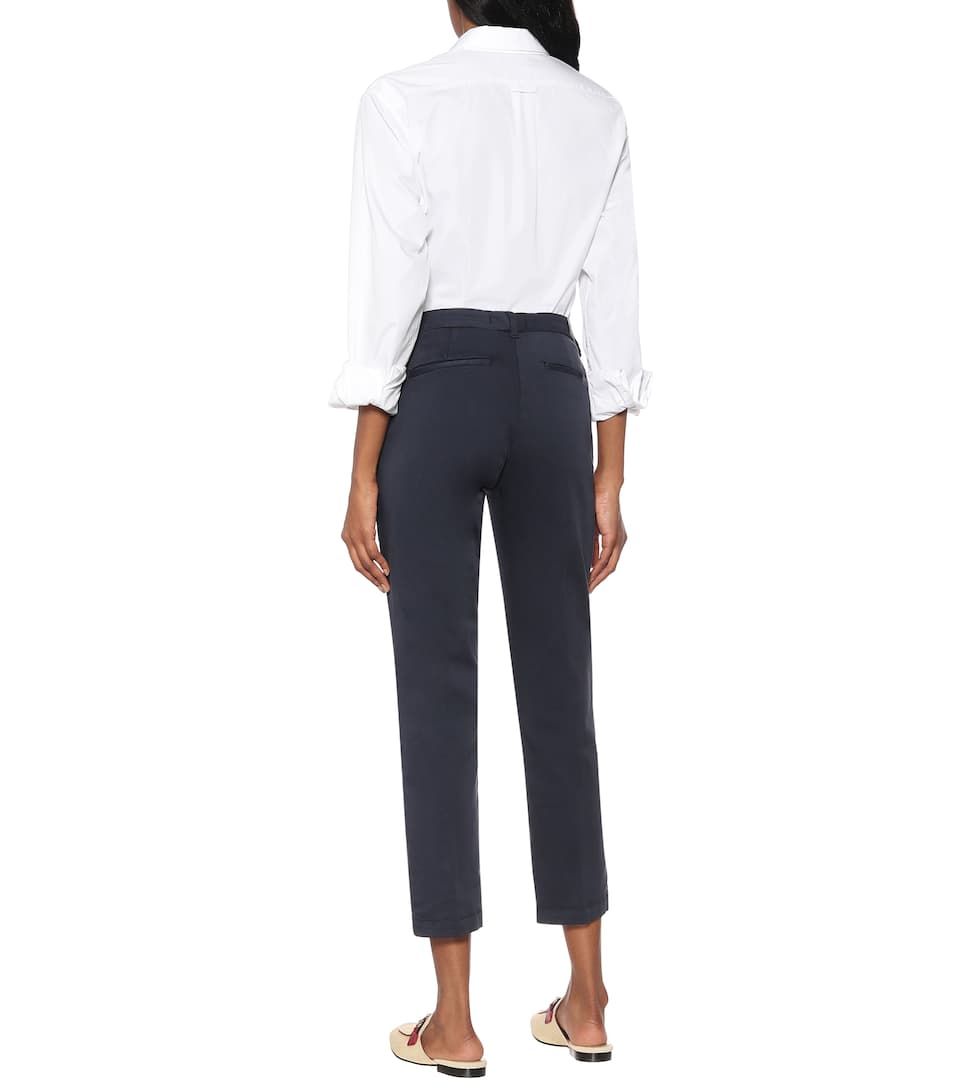 7 For All Mankind - Chino cotton-blend sateen pants