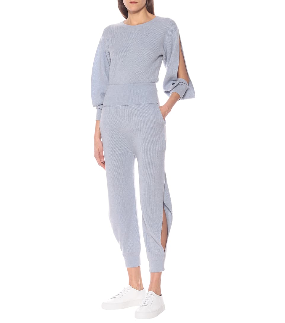 Stella McCartney - Cashmere and wool trackpants