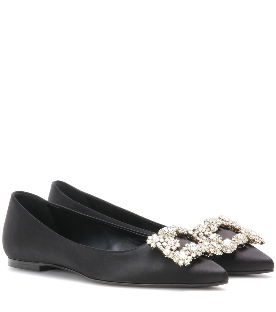 Roger Vivier Ballerinas Decorated Flower Satin From