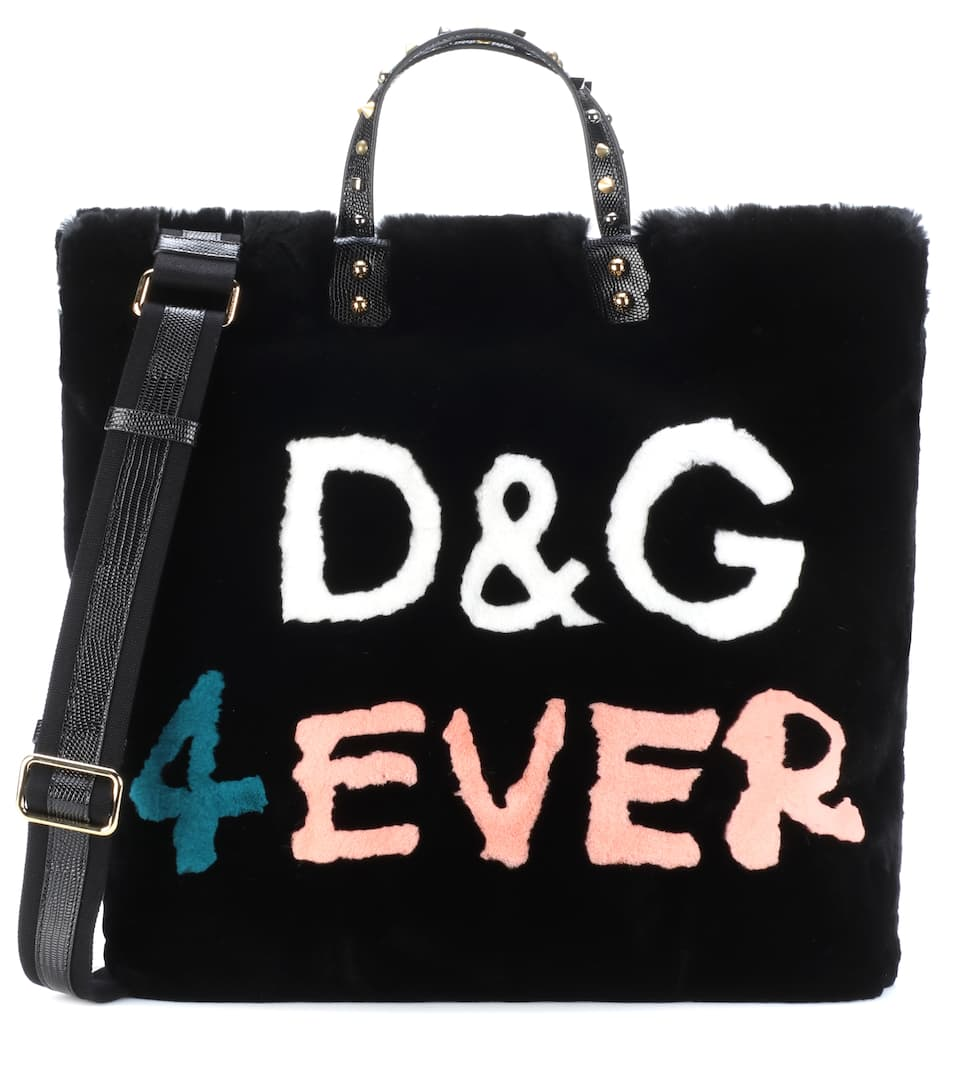D & G 4EVER FUR SHOPPER