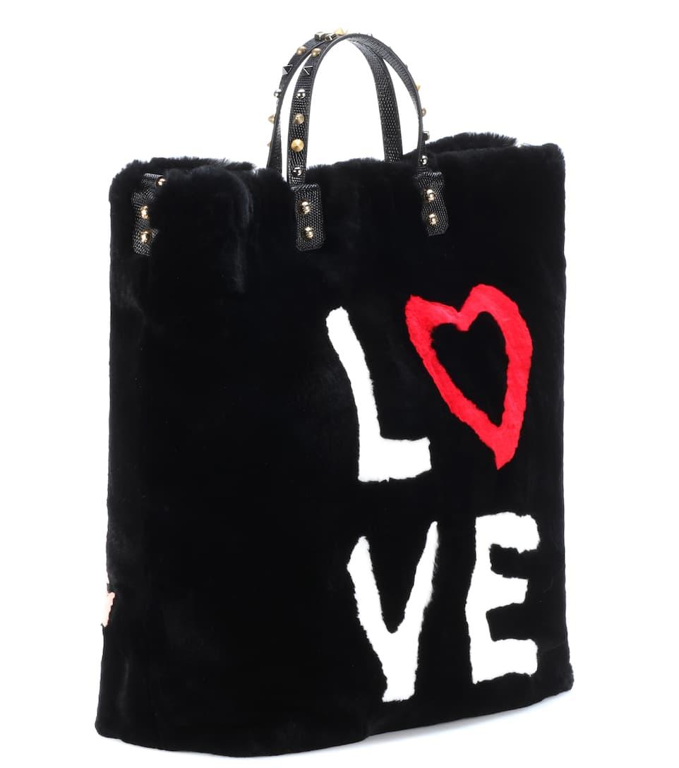 Dolce & Gabbana Shopper Beatrice aus Pelz und Leder