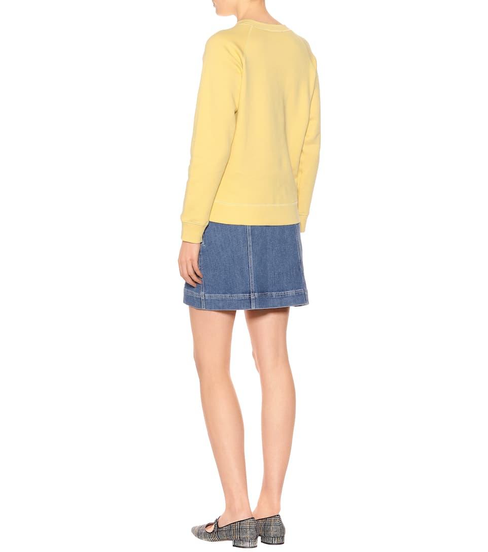 AlexaChung Verziertes Sweatshirt aus Baumwolle