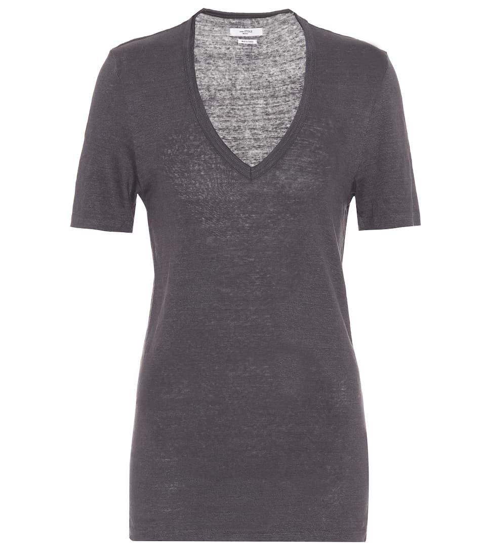 418243e4 T-Shirt En Lin Kranger - Isabel Marant, Étoile | mytheresa.com