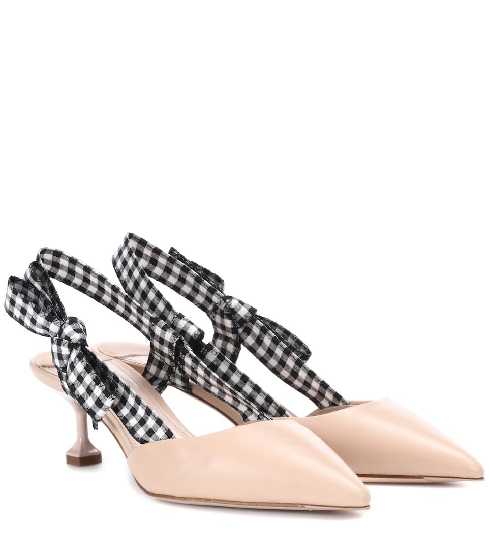Miu Miu - Escarpins en cuir