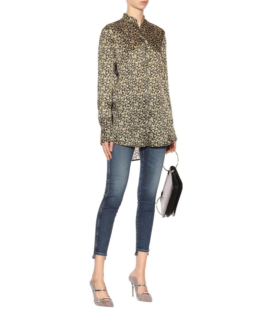 Victoria Victoria Beckham Seidenbluse mit Print Billig Verkauf Für Schön Modestil d9dCCmTJz