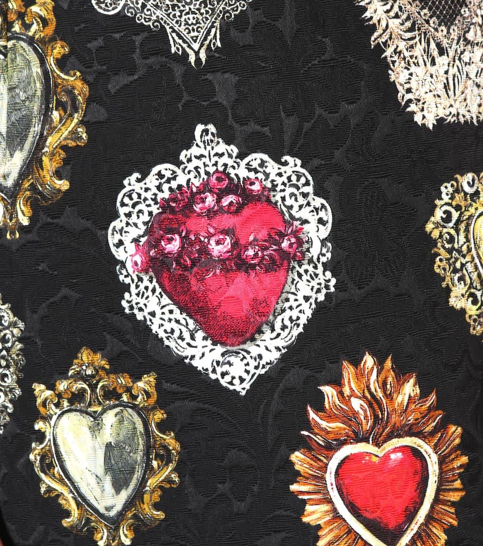 Dolce & Gabbana Bedrucktes Minikleid aus Jacquard