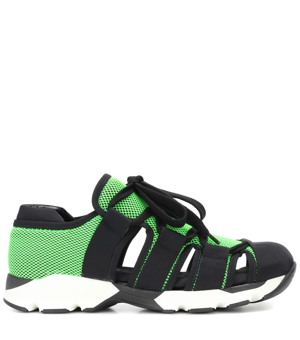 Techno Zapatillas de Black Acid tela Green Marni nFvxRC0F