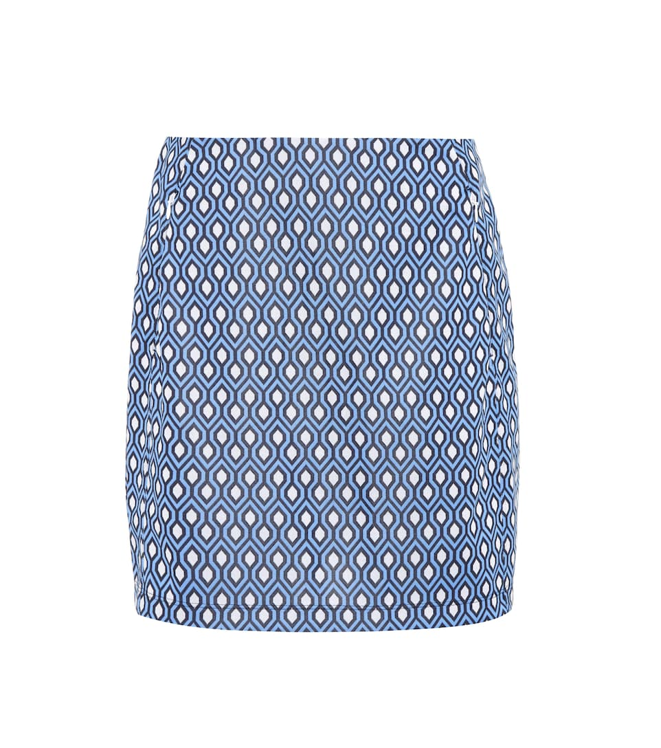 Tory Sport Printed Jacquard Performance Skirt In Blue