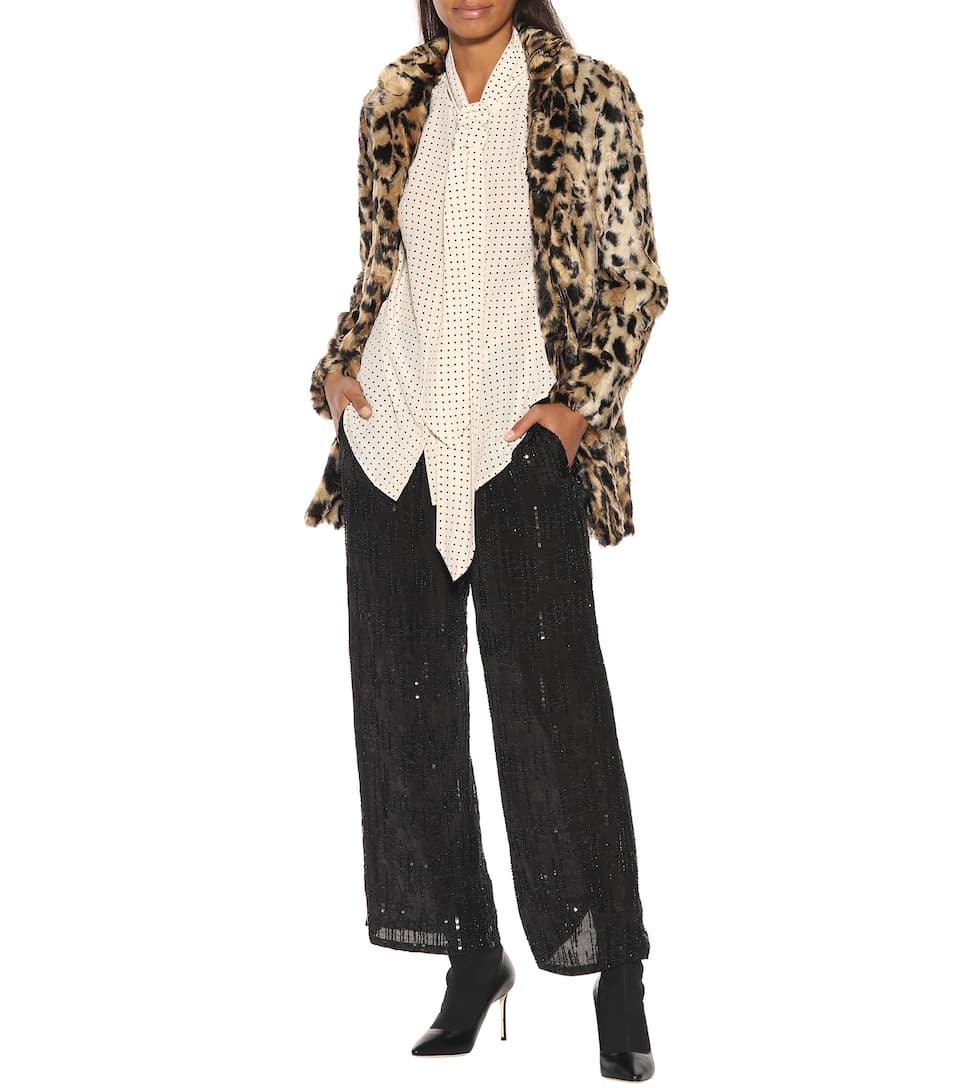 ... Crêpe Velvet Pantaloni In Paillettes Con Sw6znwHqT ... 893210af4eb3