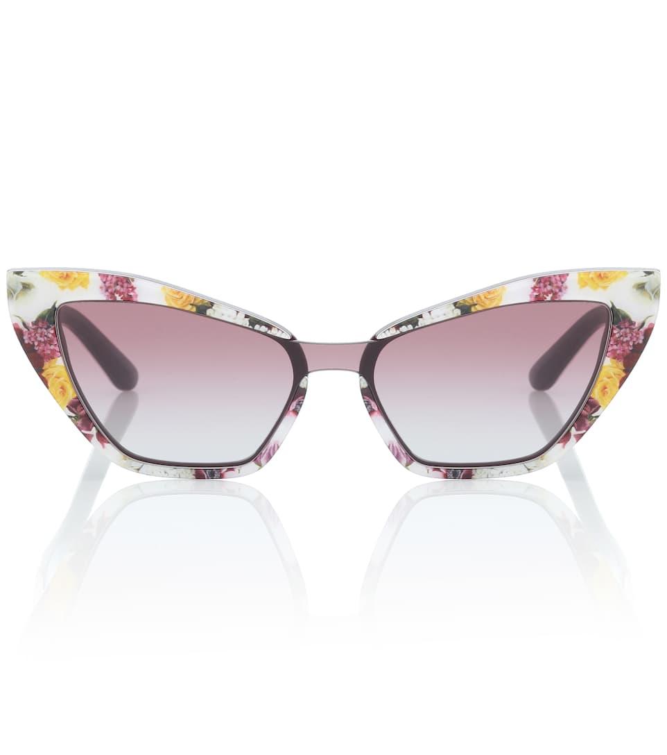 584ce3d6c4d4 Floral Cat-Eye Sunglasses - Dolce & Gabbana   mytheresa.com