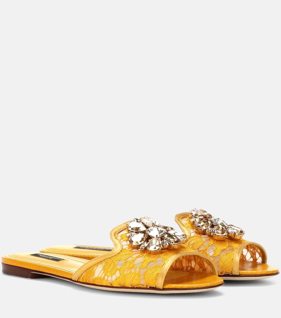 Dolce & Gabbana Decorated Sandals Bianca Tip