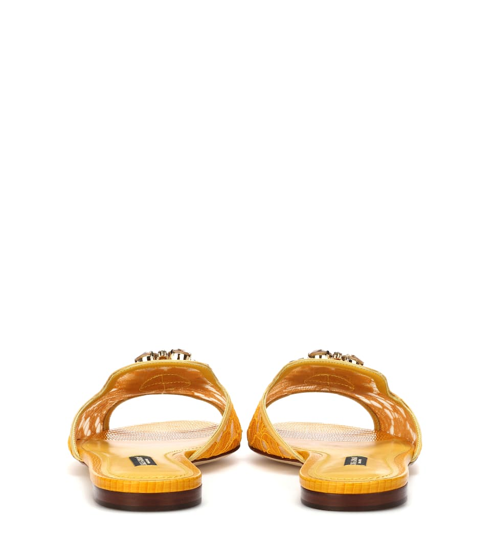 Mules En Dentelle À Cristaux Bianca - Dolce & Gabbana Meilleure Vente Livraison Gratuite Pas Cher Footlocker En Ligne De La France À Faible Frais D'expédition 8zvba