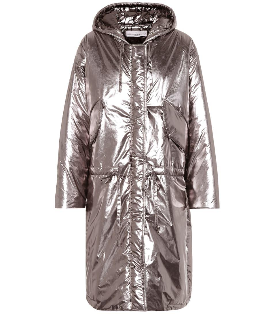 Metallic puffer coat