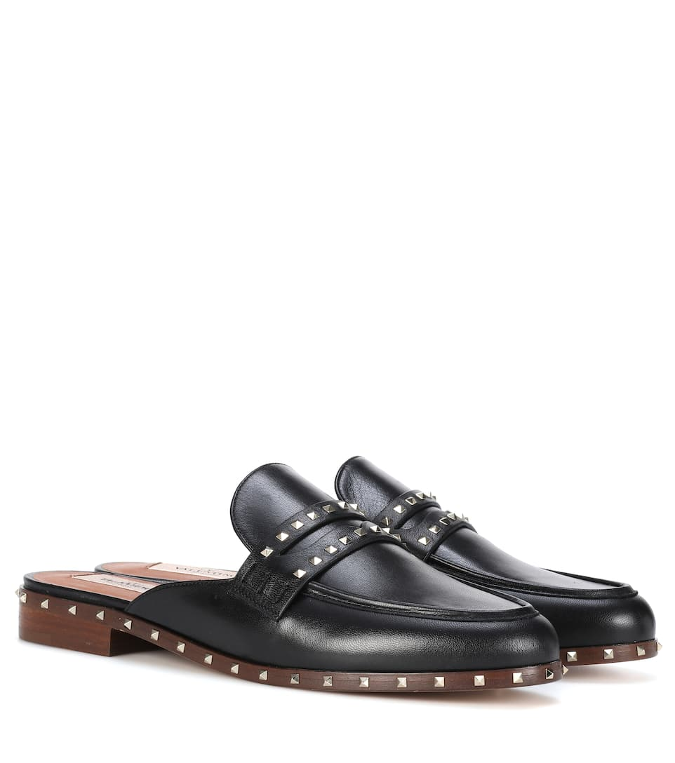 SOUL ROCKSTUD LEATHER SLIPPERS
