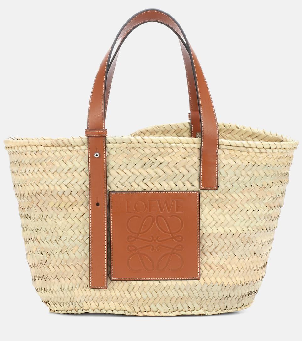 Loewe - Leather-trimmed basket tote