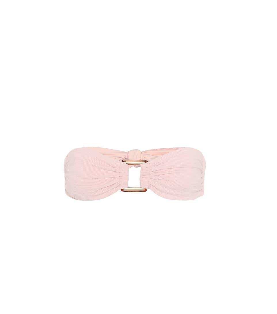 Free Shipping Cheapest Melissa Odabash Angola bandeau bikini top Pique Pink Buy Cheap Low Price Professional xPmldXKb