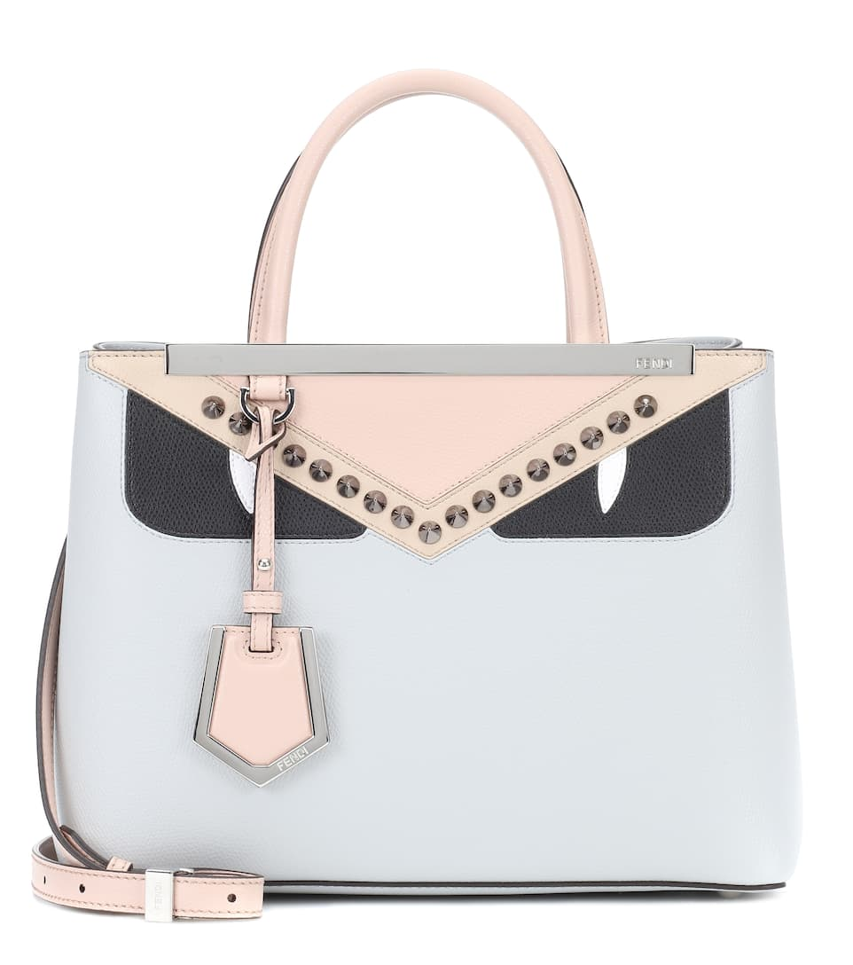 2 Jours Petite Leather Tote by Fendi