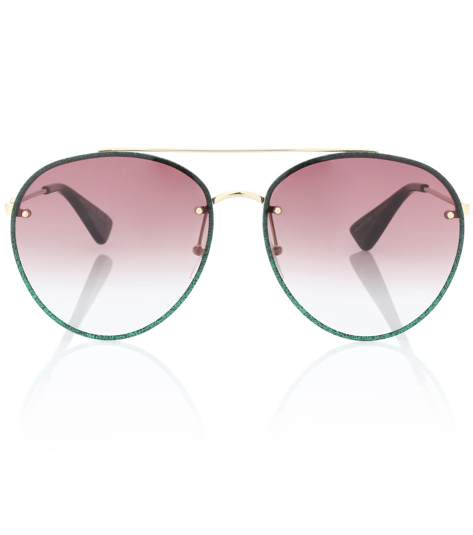 Glitter Aviator Sunglasses by Gucci