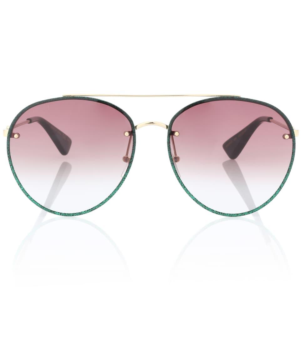 Aviator-Sonnenbrille Mit Glitter - Gucci   mytheresa.com