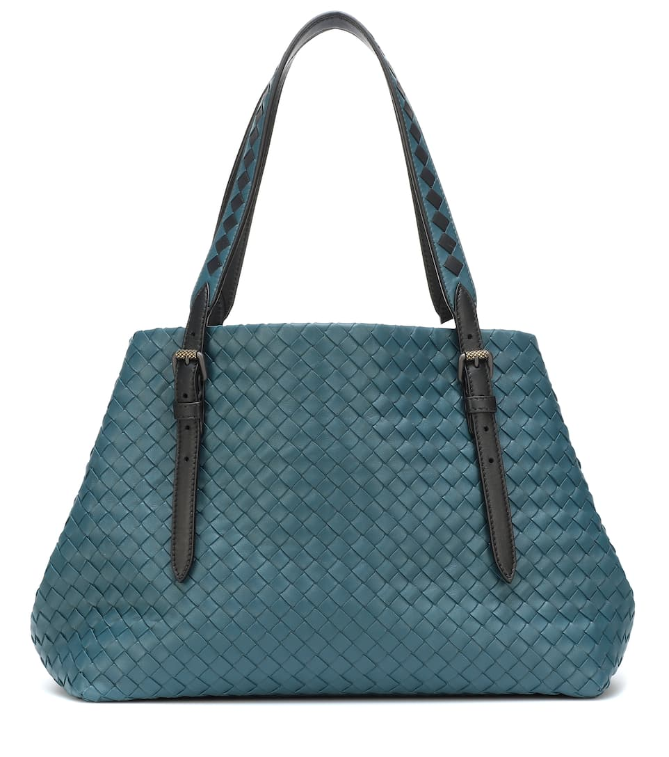 7c0a1df515 Intrecciato Leather Tote - Bottega Veneta
