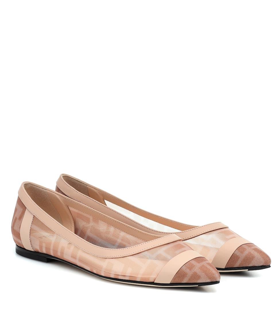Colibrì Mesh Ballet Flats   Fendi