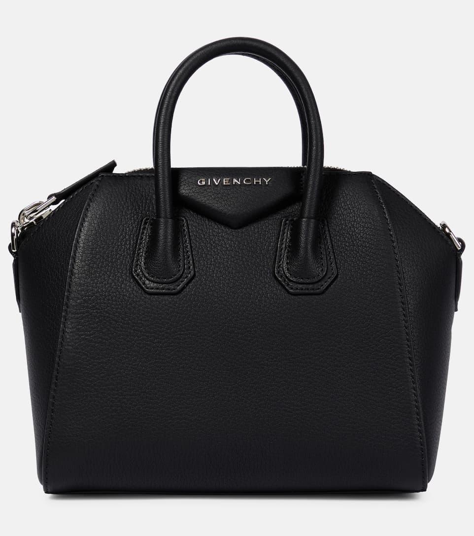 Givenchy Antigona Small Leather Handbag In Black