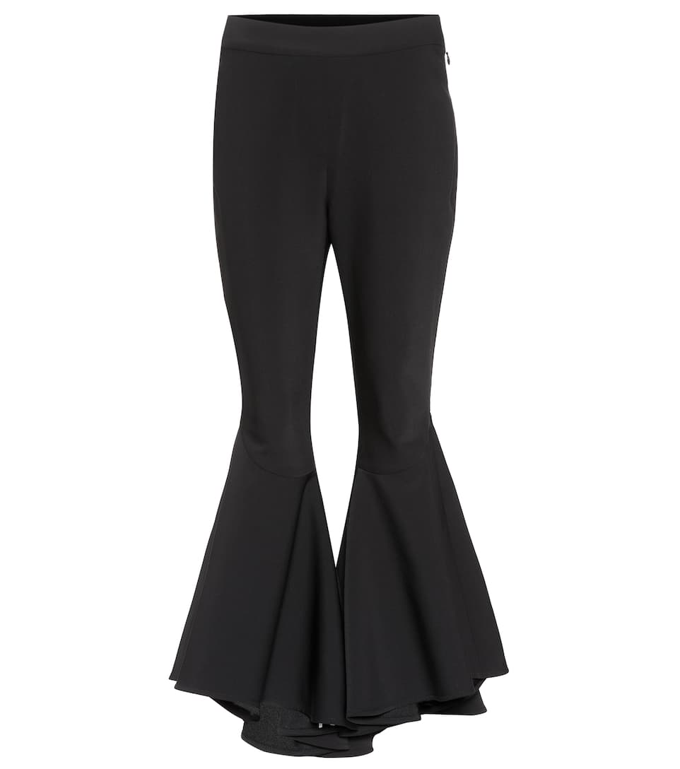 Sinuous Wool Blend Cropped Trousers by Ellery