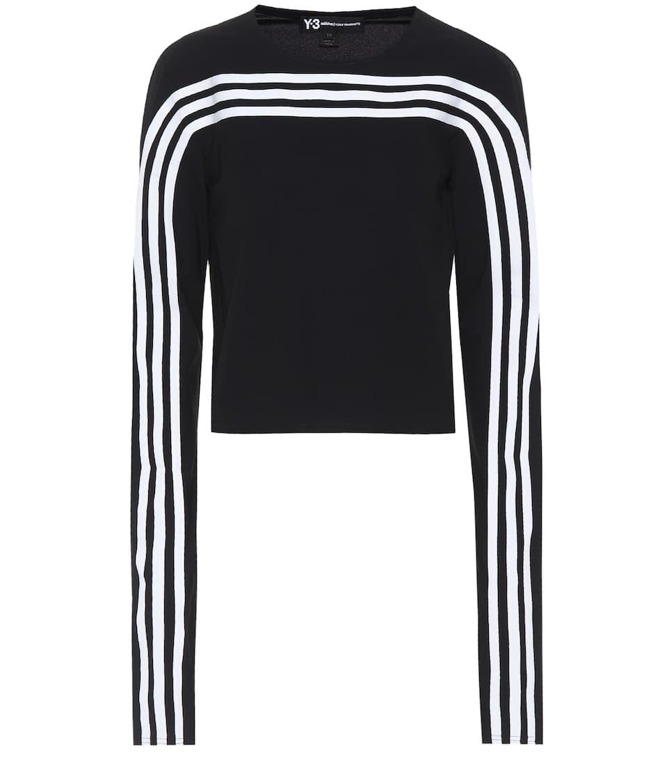 Camisa manga rayas a Y negra larga de 3 rOFBxqrw