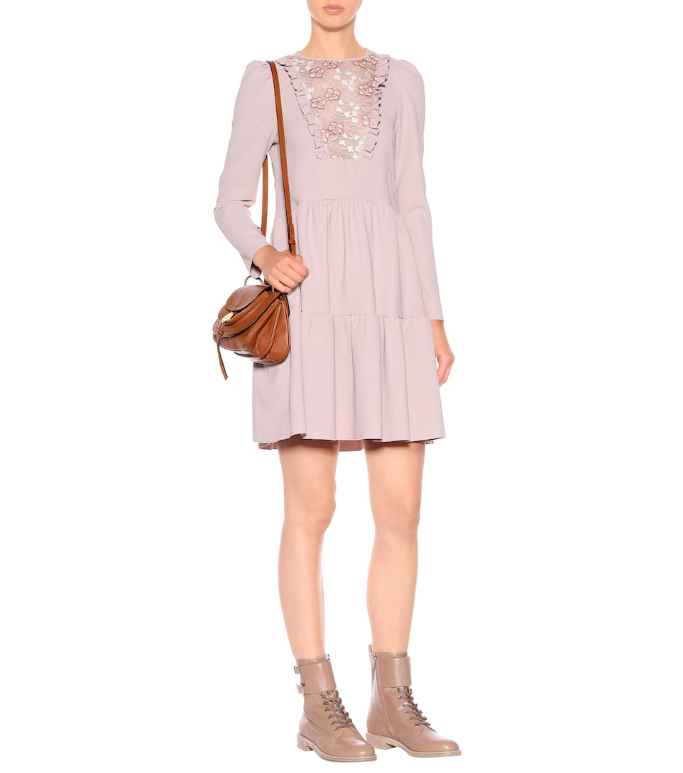 Floral lace bib dress See By Chloé Quality Free Shipping Low Price Pre Order Cheap Price Cheap Sale Websites SGb7qWYdc
