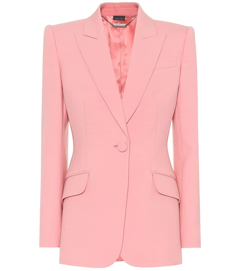 Wool And Silk Blend Blazer by Alexander Mc Queen