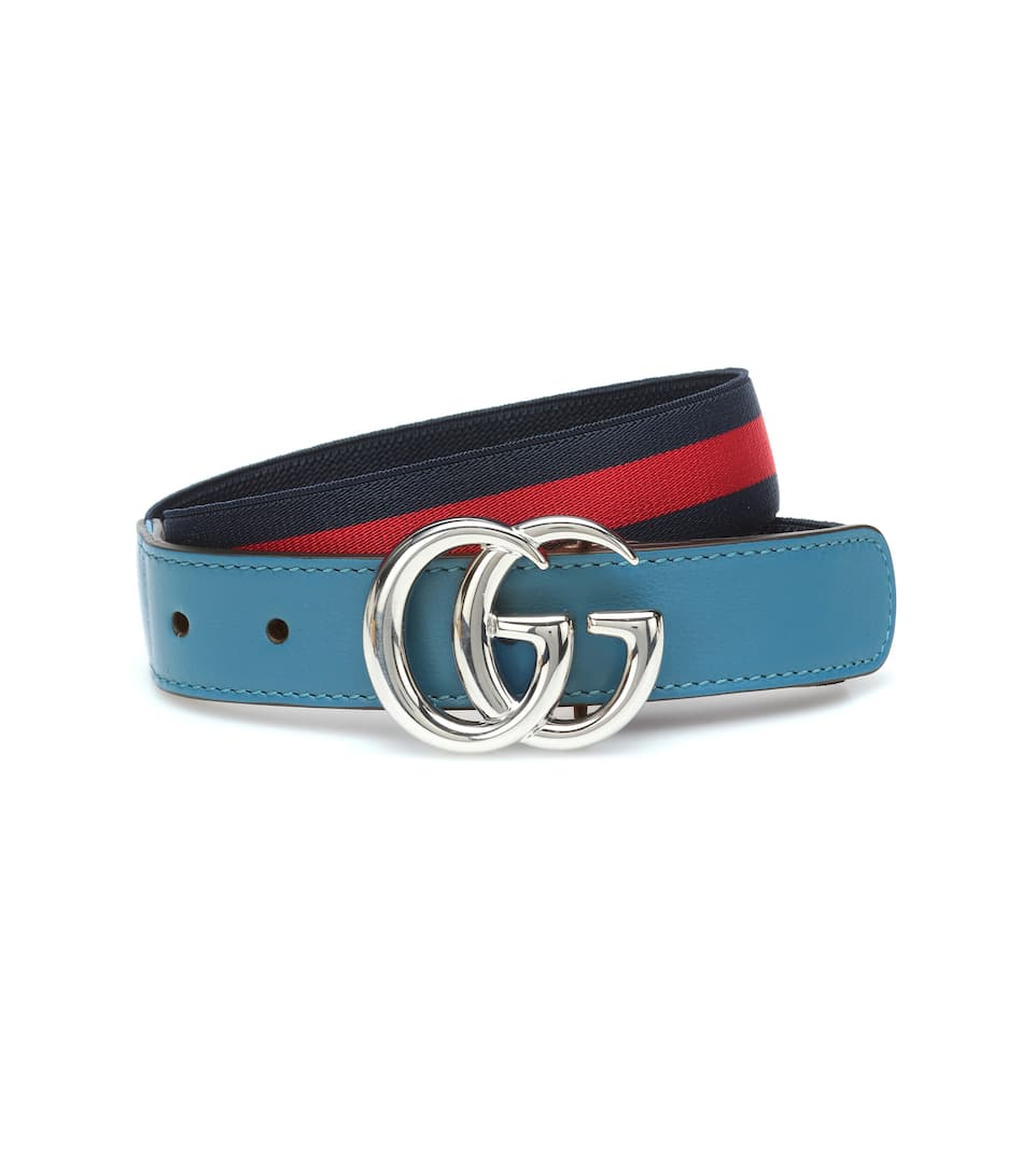 6e060a4295 Gucci Kids - GG striped stretch belt | Mytheresa