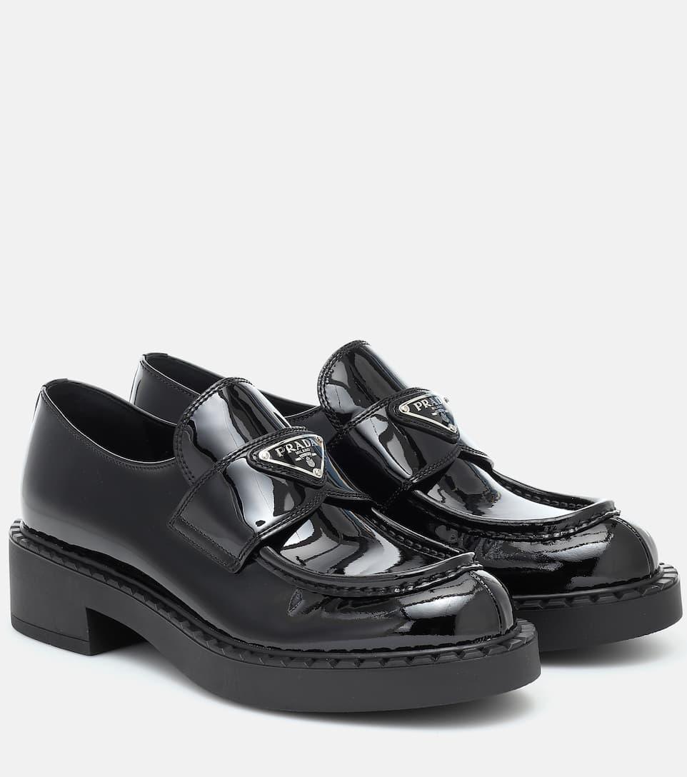 black patent leather prada sneakers