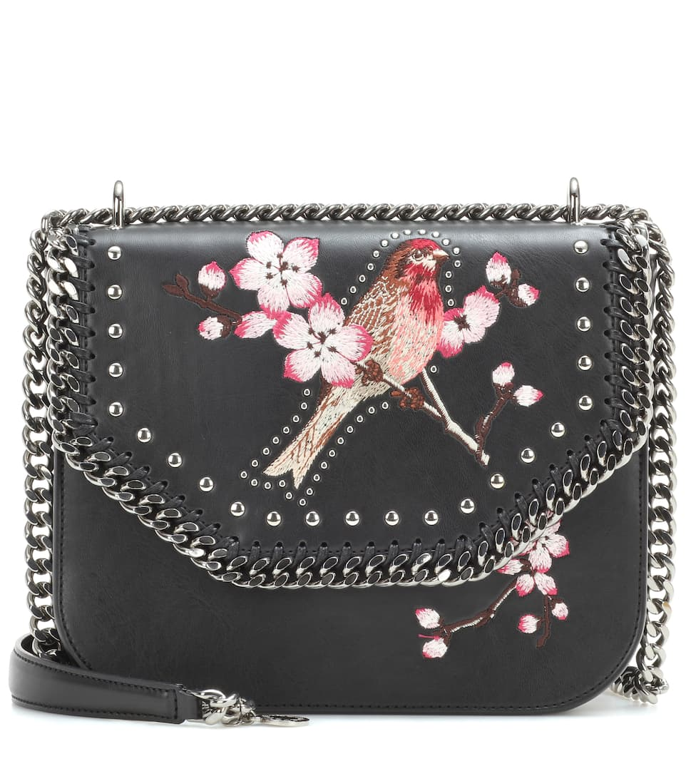 Stella McCartney Falabella Box embroidered shoulder bag