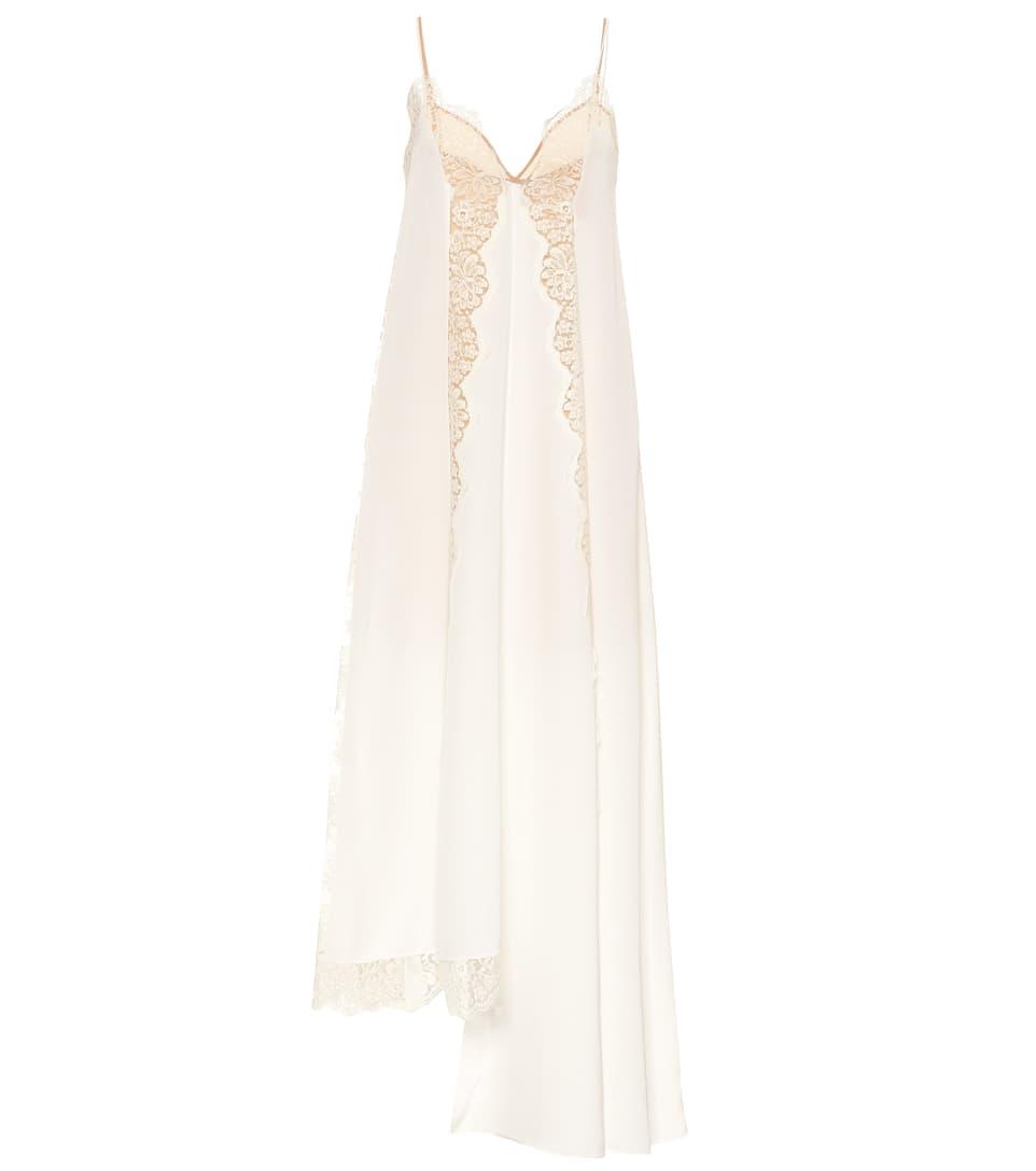 f75f2f354bf3 Lace-Trimmed Silk Slip Dress - Stella McCartney   mytheresa.com