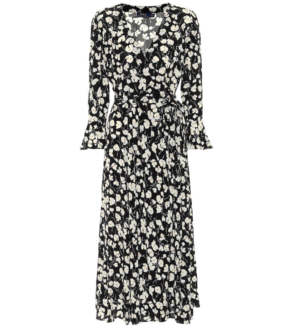 Crepe Floral Midi Dress