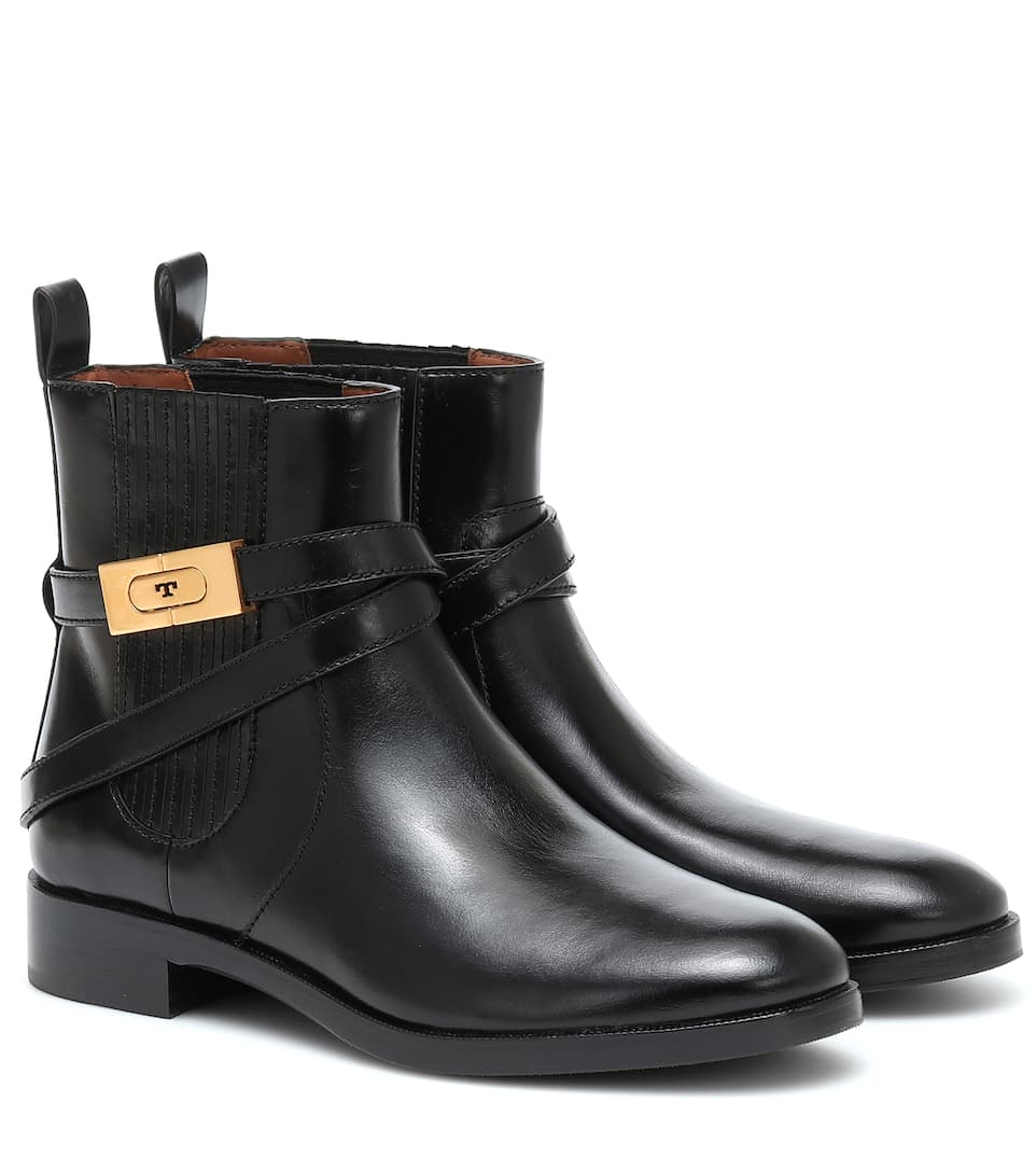 Leather Ankle Boots - Tory Burch