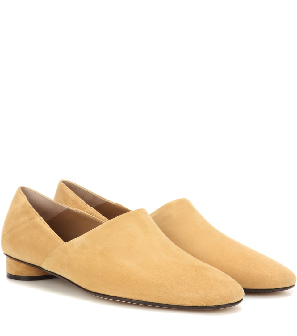 Latest Classic The Row Noelle suede slippers gwx 91844