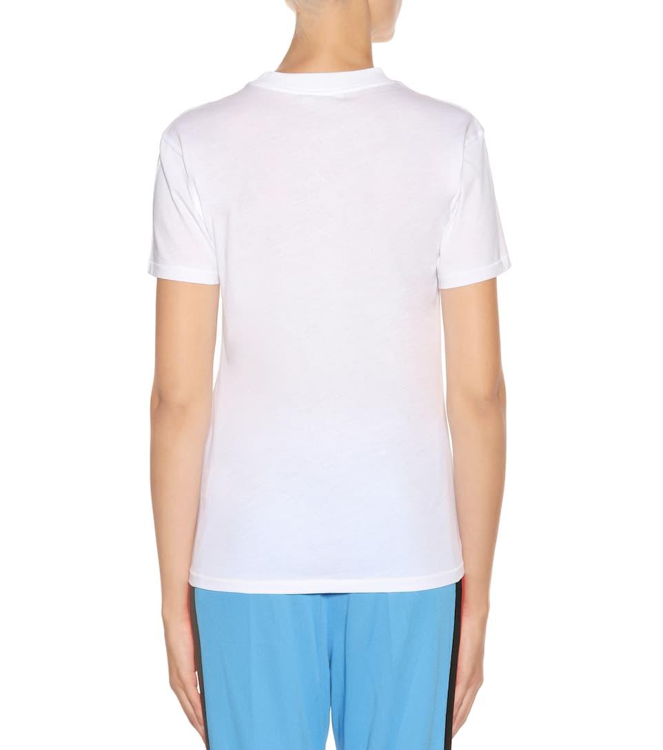 con Harway brillante Exclusivo estampado algodón Camiseta Blanco para Ganni de mytheresa com S4nwzdPq0