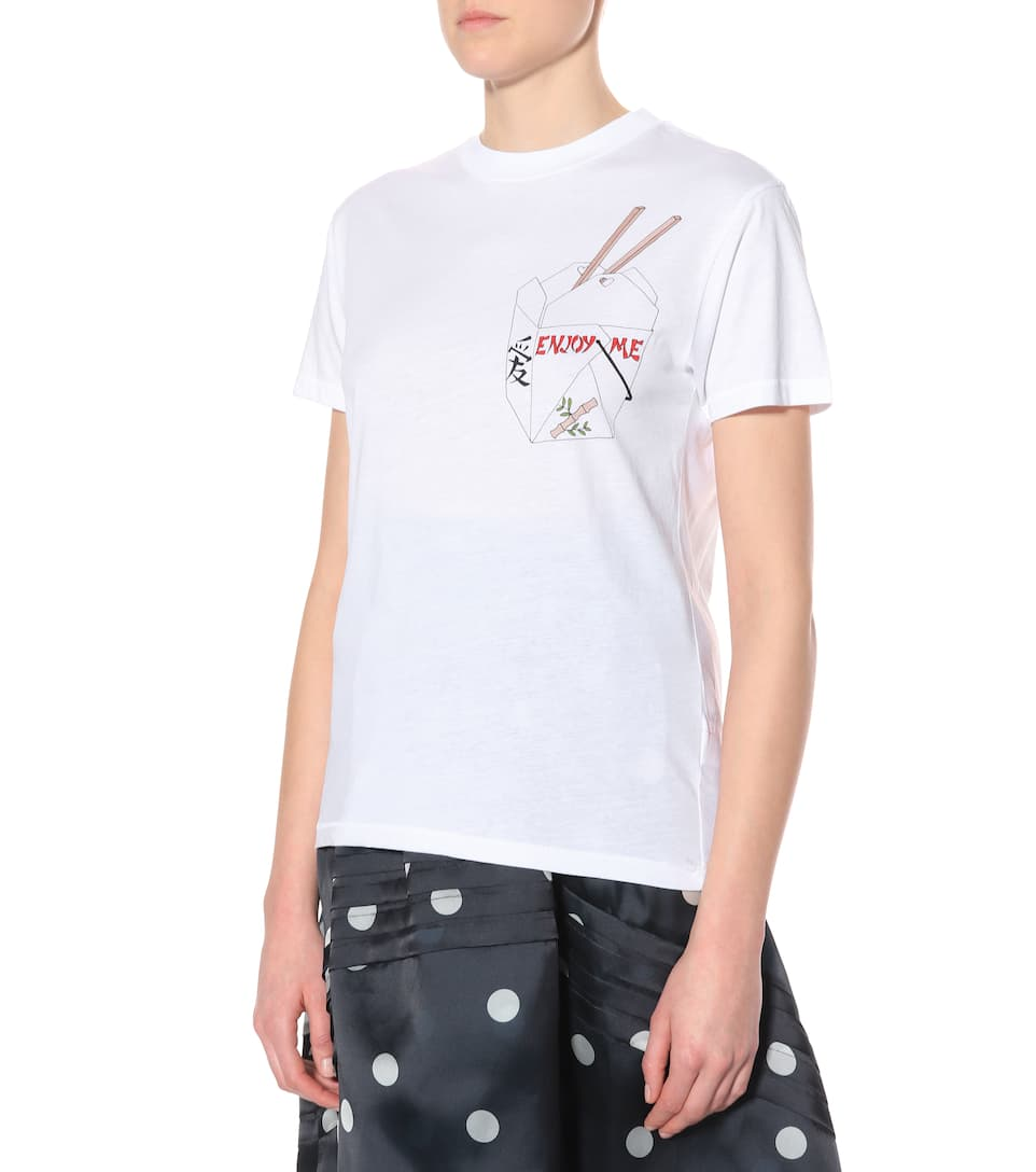 Ganni Exclusively At Mytheresa.com - Printed T-shirt Made Of Cotton