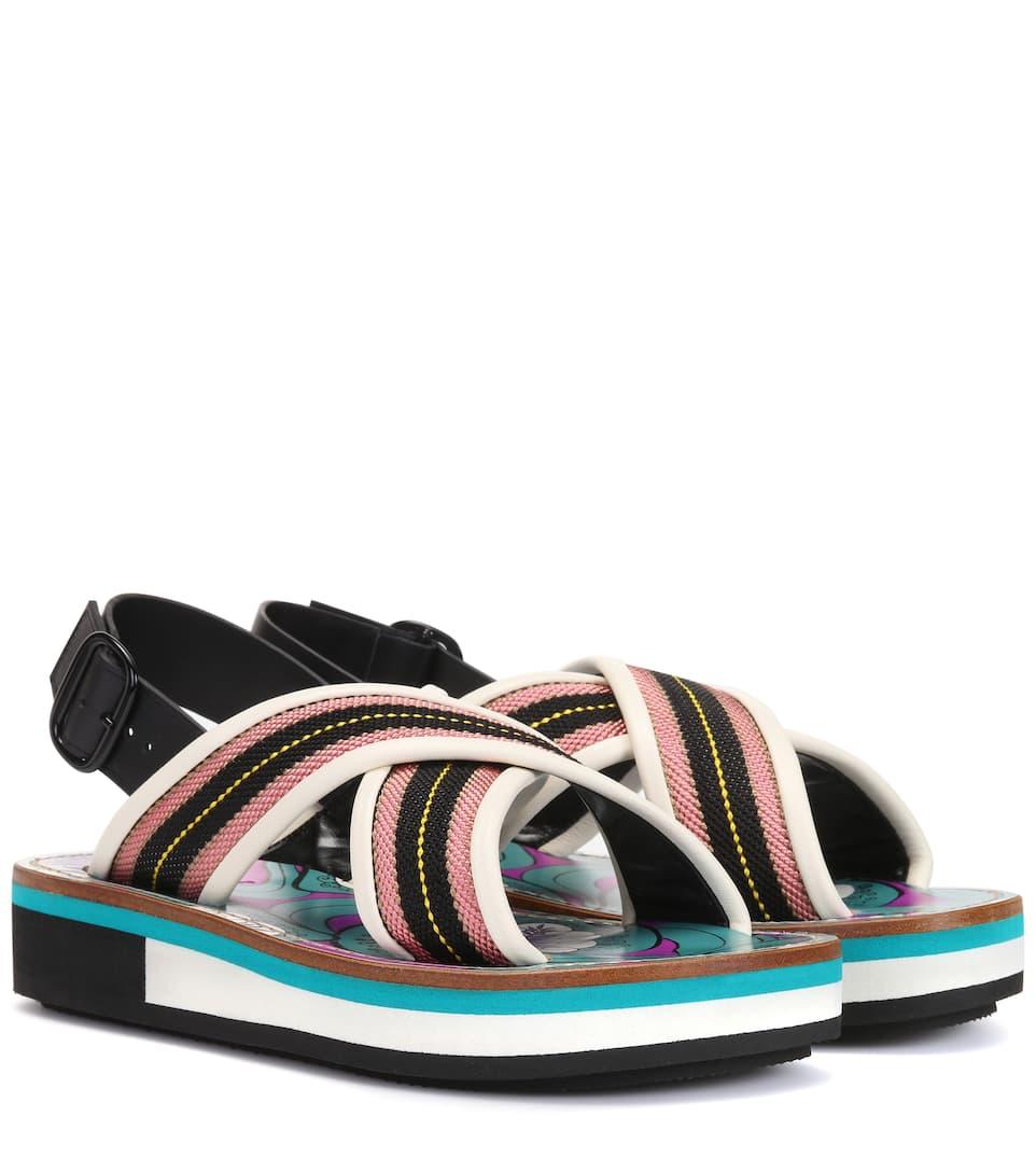 fd30f5619e2d Striped Sandals - Marni