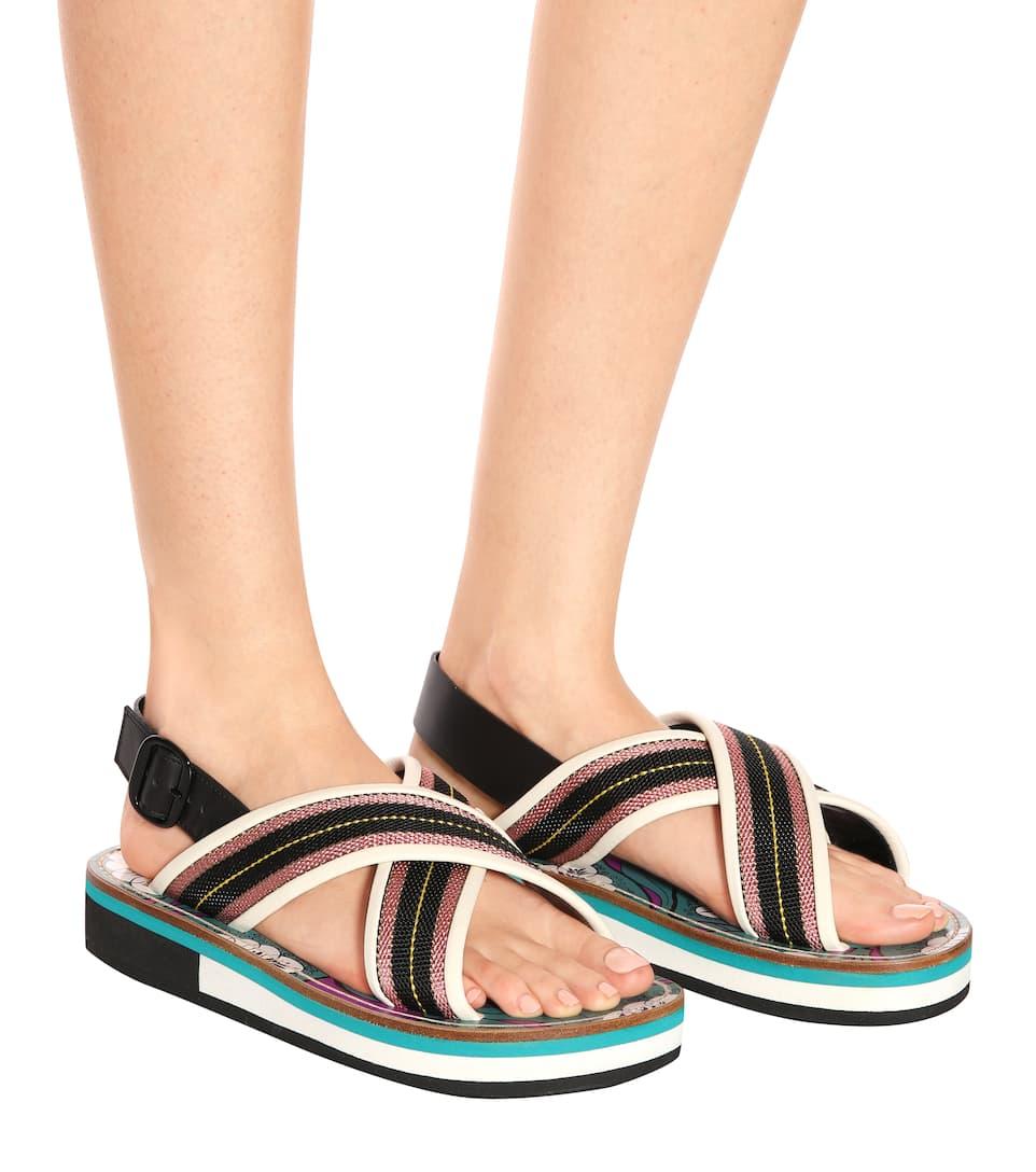 Marni Slingback-Sandalen mit Leder