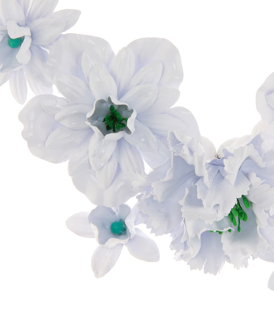 Collier De Perles Fantaisie Orné De Fleurs - Isabel Marant combien À Vendre Pas Cher Réel Recherche À Vendre Vente Pas Cher Vraiment Pas Cher laqWdAp