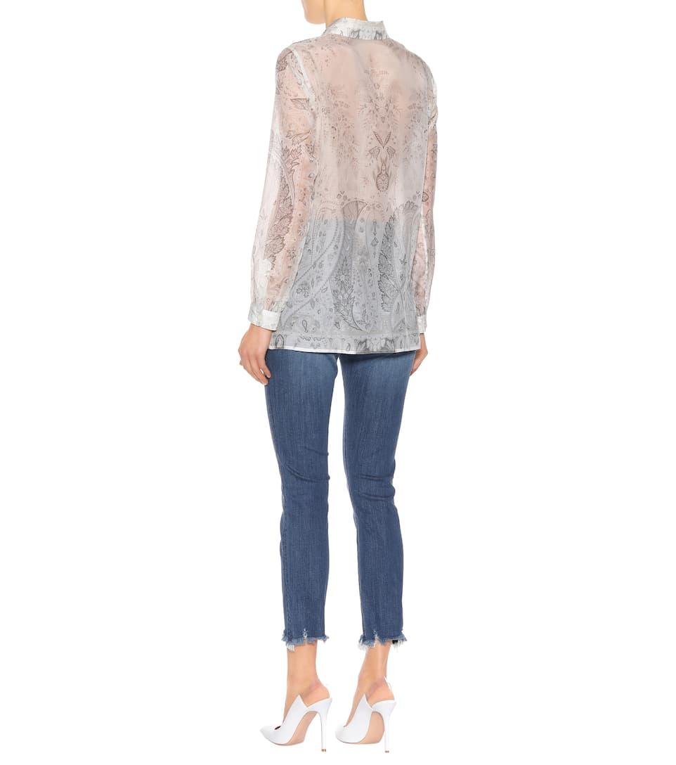 7088ca7712b54 Printed organza blouse. Runway. Etro