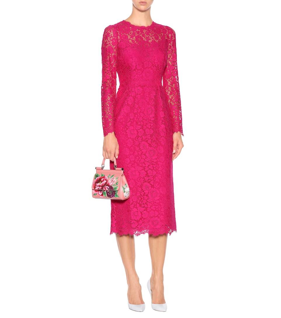 Brand New Unisex Cheap Price Amazon Dolce & Gabbana Floral lace dress Shocking Rose Sast Cheap Price bNJ3E