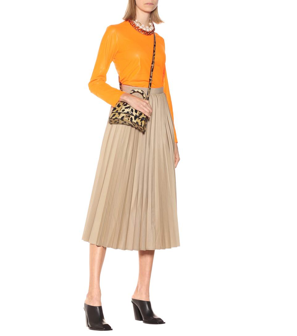 High-Rise Cotton-Blend Skirt - Junya Watanabe