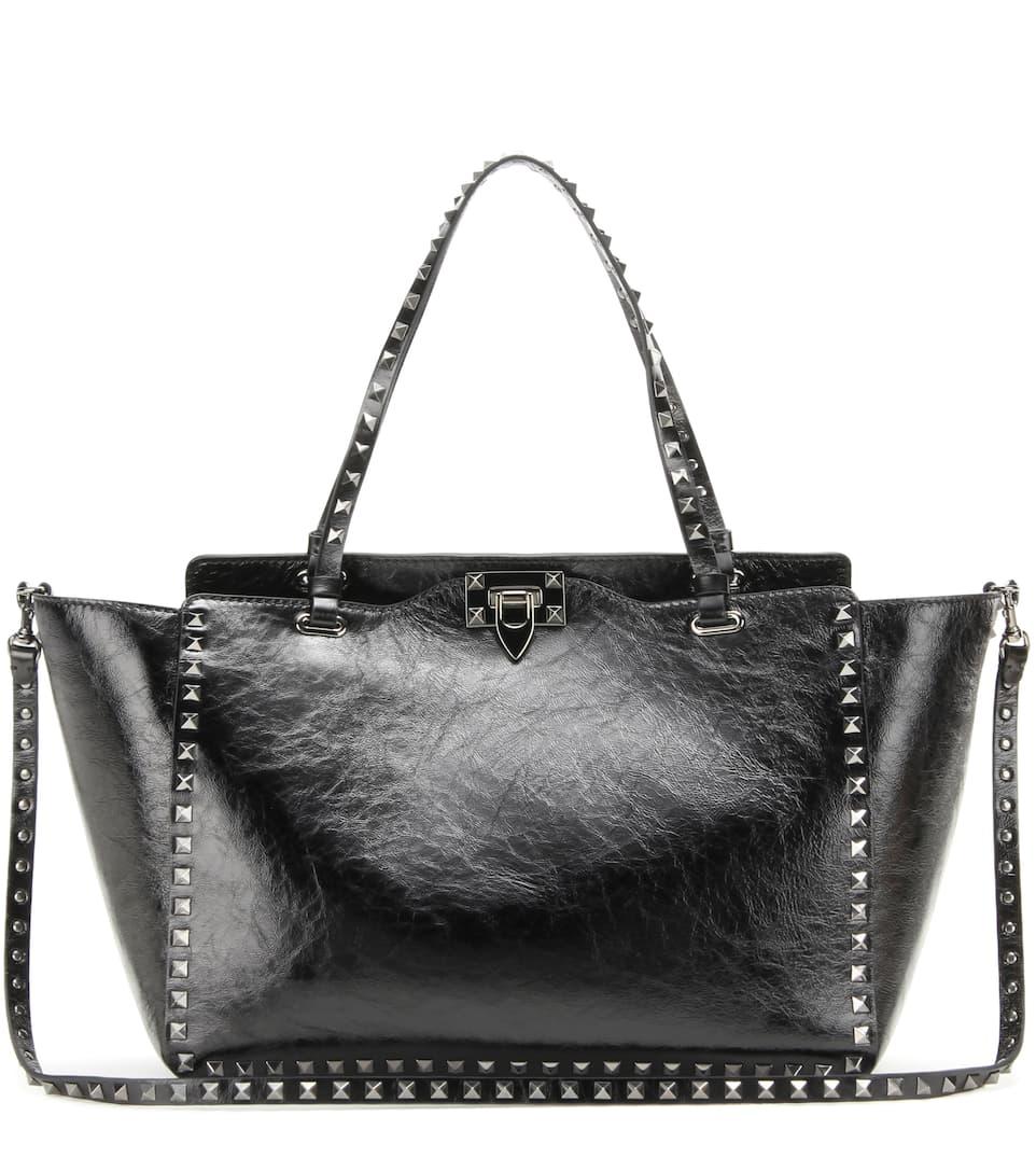 Valentino Rockstud Noir Medium leather shoulder bag
